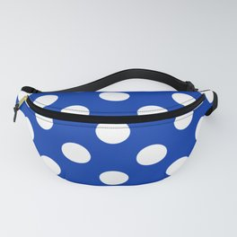 UA blue - blue - White Polka Dots - Pois Pattern Fanny Pack