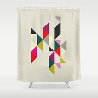 david fleck Shower Curtains featuring David by Kimmari3