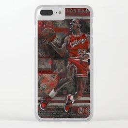M Jordan Clear iPhone Case