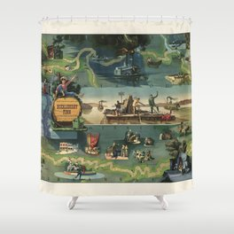 The adventures of Huckleberry Finn from the book by Mark Twain Shower Curtain