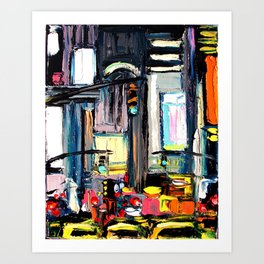 Faces of the City 132 Art Print