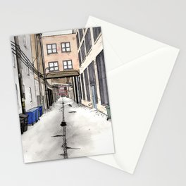 Alley in Ravenswood, Chicago Stationery Cards
