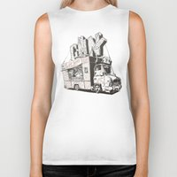 shopping Biker Tanks featuring Shopping Truck by Mitt Roshin