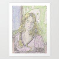 Fantasy Woman Art Print