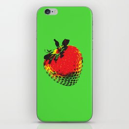 Strawberry Green - Posterized iPhone Skin
