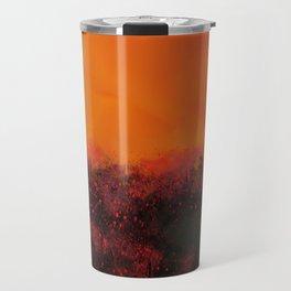 """The Burning Fields"" Digital Painting // Fine Art Print Travel Mug"