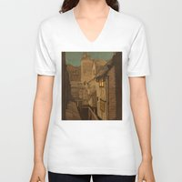 agnes V-neck T-shirts featuring Dusk by Megs stuff