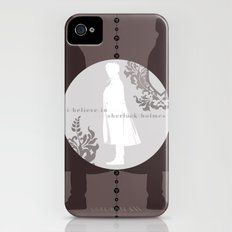 I Believe in Sherlock Holmes iPhone (4, 4s) Slim Case
