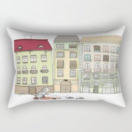 Budapest and the wandering cat Rectangular Pillow