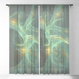 Geometric Cosmic Light 149 Sheer Curtain