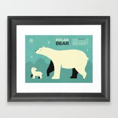 Polar bear infographic ...  Framed Art Print