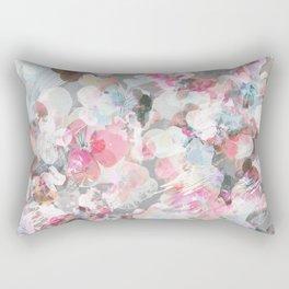 Pastel pink pansies splatter Rectangular Pillow
