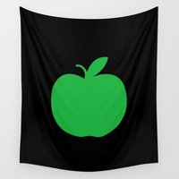 apple Wall Tapestries featuring Apple by Mr and Mrs Quirynen