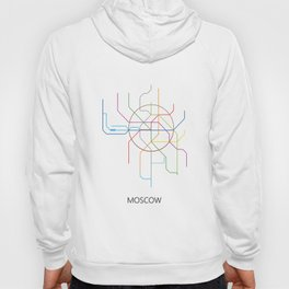 Moscow Metro Map Russian Underground Train Lines Hoody