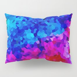 Rock Candy Blue Tie Dye. Pillow Sham
