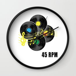 45 RPM Record Hipster LP Wall Clock
