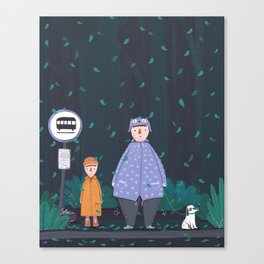 Waiting in the the forest rain Canvas Print