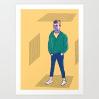 kobe Art Prints featuring Kobe 2 by Autumn James