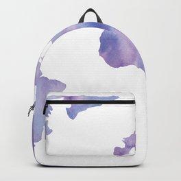 World Map Light Blue Purple Indigo Backpack
