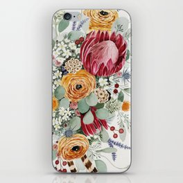 Fall Protea Bouquet iPhone Skin