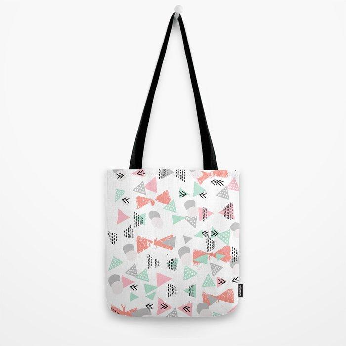 Pastel minimal pattern gender neutral nursery pattern home office trendy designs Tote Bag