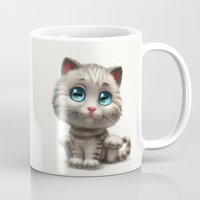 kitten Mugs featuring Kitten by Antracit
