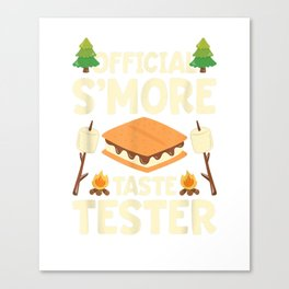 Official S'more Taste Tester T-Shirt Canvas Print