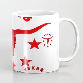 Red & White Texas Longhorn Logo Pattern Art Coffee Mug