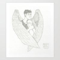 Under Angel's Wings Art Print