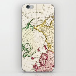 Northern Hemisphere- reproduction of William Faden's 1790 engraving iPhone Skin