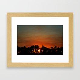 Sunset in Orlando,Florida Framed Art Print
