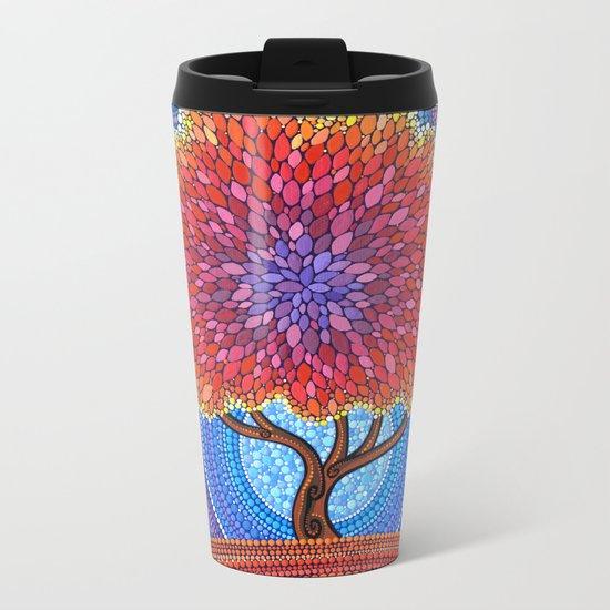 Autumn Blossoms Metal Travel Mug