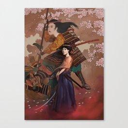 The Spirit of Tomoe Gozen Canvas Print