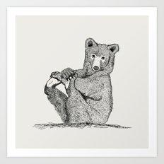 Yoga Bear  Art Print
