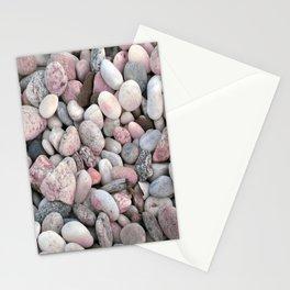 Pink & Gray Rocks Stationery Cards