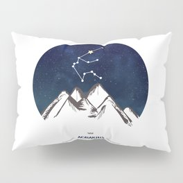 Astrology Aquarius Zodiac Horoscope Constellation Star Sign Watercolor Poster Wall Art Pillow Sham