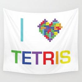 I heart Tetris Wall Tapestry