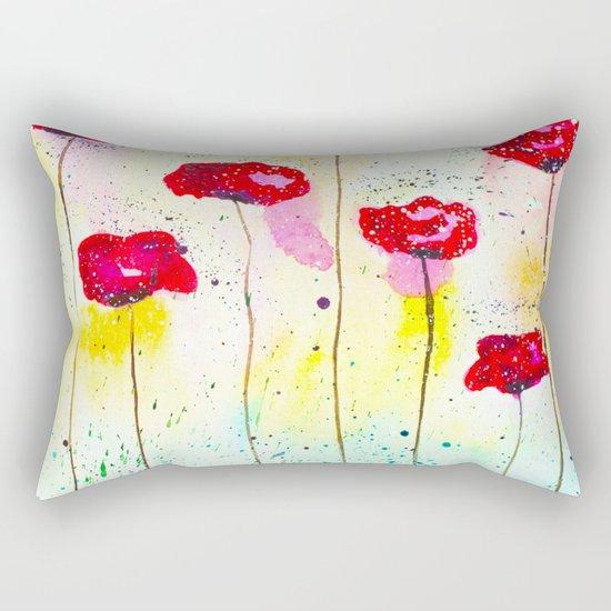 Poppies fantasy Rectangular Pillow