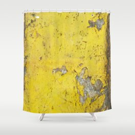 Yellow Weathered Wood rustic decor Shower Curtain