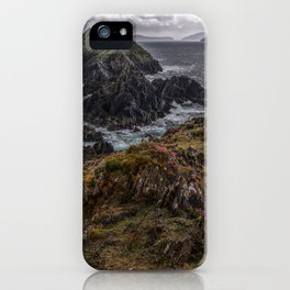 Island of pink flowers iPhone Case