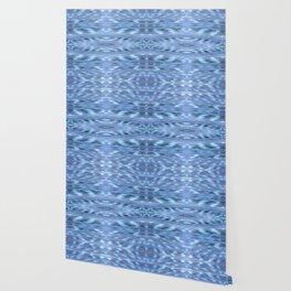 SoCal Blue Ikat Pattern Blue Print Wallpaper