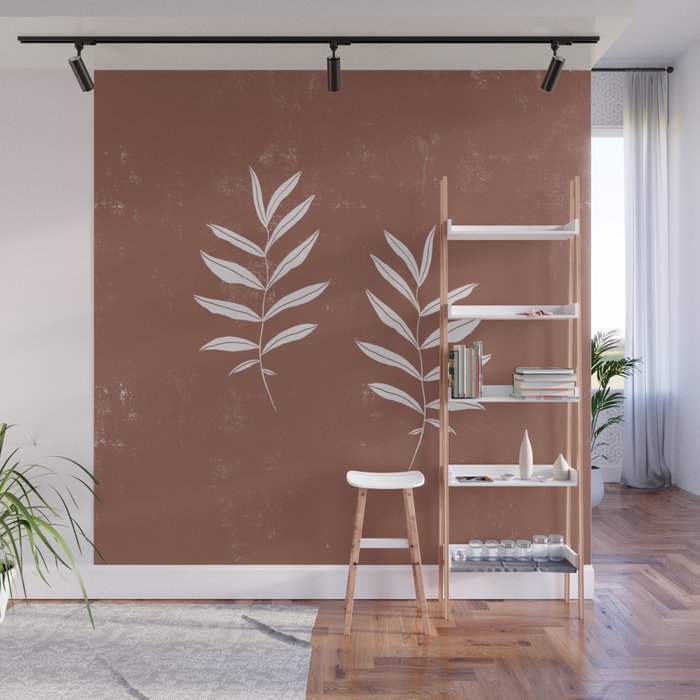 Abstract Leave Pattern Wall Mural