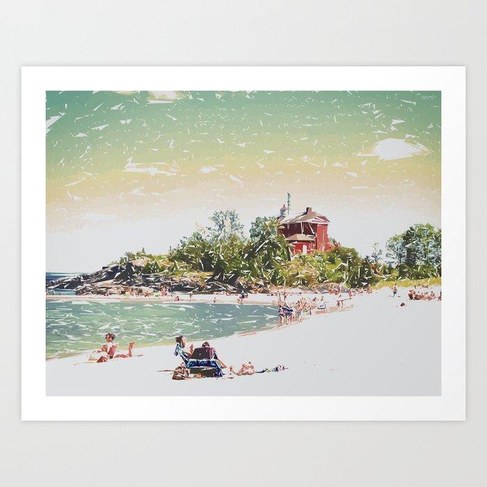 Summer Beach Sunshine Art Print