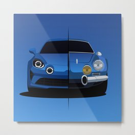 Alpine A110 Generations Metal Print