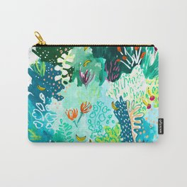 Twice Last Wednesday: Abstract Jungle Botanical Painting Carry-All Pouch