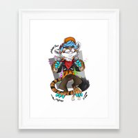 kpop Framed Art Prints featuring Gimme That Kpop by FaunaSpace