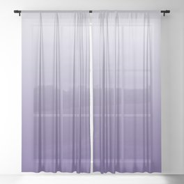 Ombre Ultra Violet Gradient Motif Sheer Curtain