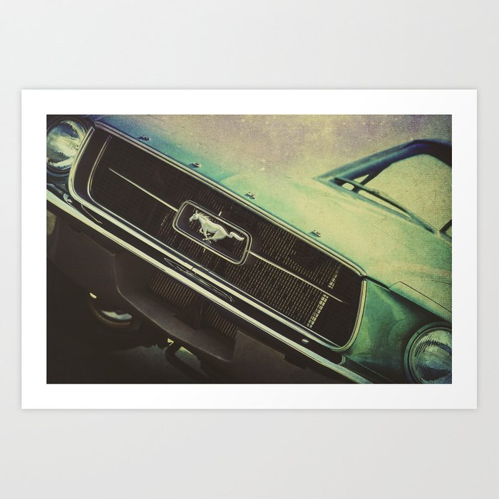 Galaxy Mustang Art Print