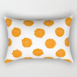 Orange Polka Dot Ink Spots Rectangular Pillow