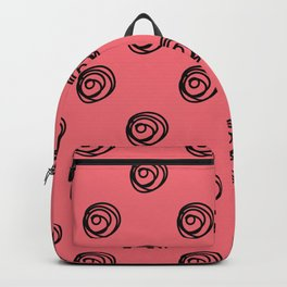 Illustrated Style Roses Polka Dots Backpack